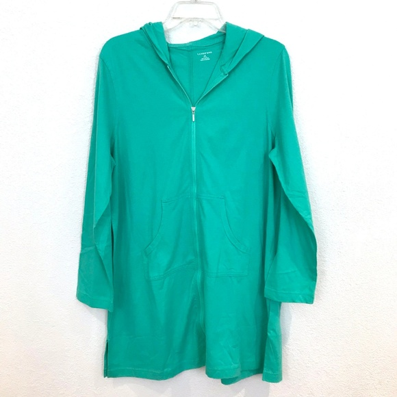 7c4acd26895 Lands' End Swim | Lands End Coverup Long Tunic Hoodie Full Zip ...